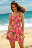 Rochie de plaja Leafy Coral, Ysabel Mora