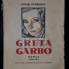 CEZAR PETRESCU - GRETA GARBO - ROMAN [ desene de TONITZA]