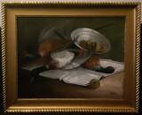 Natura moarta cu fazani - Carl Schuch, Natura statica, Ulei, Impresionism