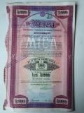 5000 Lei 1938 Mica Bucuresti actiuni vechi / Romania 790390