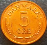 Moneda 5 ORE - DANEMARCA, anul 1968 *cod 3540, Europa
