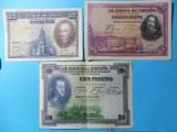 SPANIA 3 BANCNOTE 1X50 PESETAS 1X25 PESETAS - 1928 / 1X100 PESETAS - 1925 (103)