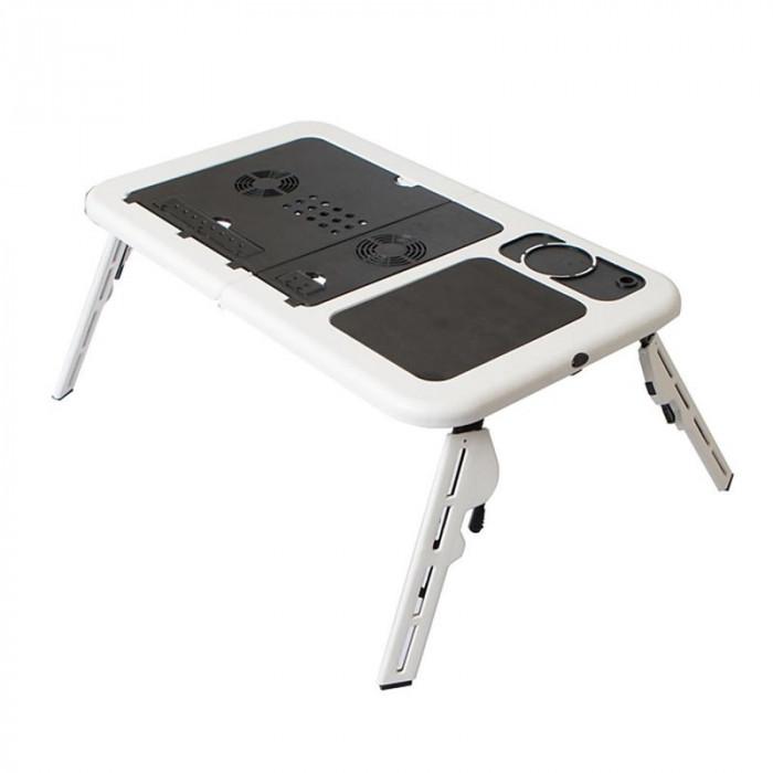 Masa laptop E-Table, 2 ventilatoare, USB