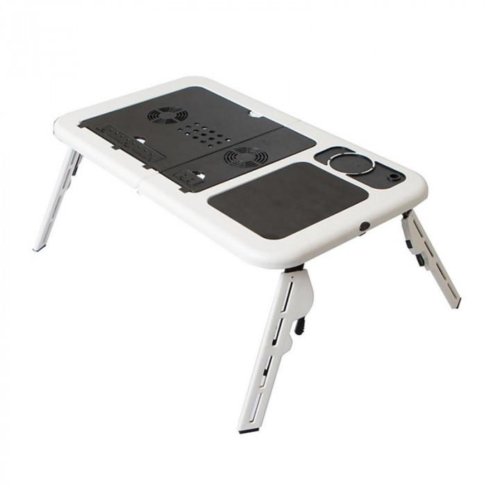 Masa laptop E-Table, 2 ventilatoare, USB