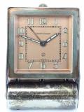 Jaeger LeCoultre ,Ceas Calatorire/Birou,8zile,anii 20-30 cu alarma.Rar