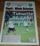 Program Fotbal Rapid Mlada Boleslav 2006 UEFA Cup bilet Romania