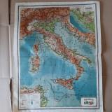 Hărți vechi Italia si Spania/Portugalia (planse din atlasul C. Teodorescu, 1924)