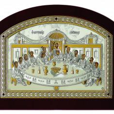 Cina Cea de Taina Icoana pe Foita Argint 925 20x26cm Cod Produs 803