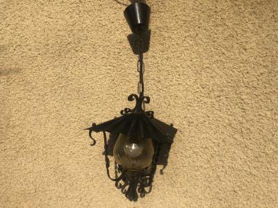 Candelabru,lustra ,lampa germana rustica din fier forjat foto