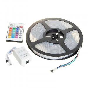 Kit banda LED 300 RGB ,telecomanda si sursa, 5 metri