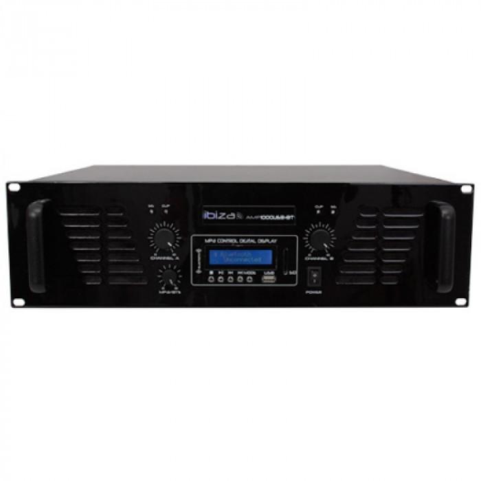 Amplificator Ibiza, XLR, RCA, jack 6.35 mm, Bluetooth, 2 x 800 W