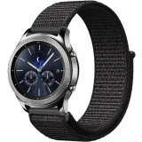 Curea ceas Smartwatch Samsung Gear S3, iUni 22 mm Soft Nylon Sport, Black
