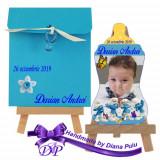 Marturii botez magnet biberon Strumfi Handmade by Diana Puiu MBBS 3