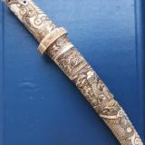 Tanto ceremonial, cu teaca osoasa, Japonez sec XIX
