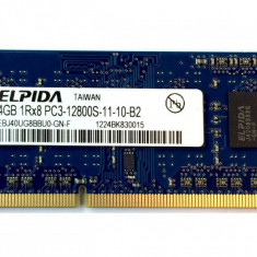 Memorie ram laptop Sodimm ELPIDA 4Gb DDR3 1600Mhz PC3-12800S, 1.35V