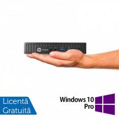 Calculator HP Prodesk 600 G1 DM Mini PC, Intel Core i3-4160T 3.10GHz, 8GB DDR3, 500GB SATA + Windows 10 Pro