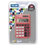 Cumpara ieftin Calculator de Birou MILAN, 8 Digits, 97x62x8 mm, Alimentare Duala, Corp din Plastic Rosu, Calculatoare Birou, Calculator 8 Digits, Calculator Buzunar,