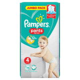 Scutece-chilotel Pampers Active Baby Pants 4 Jumbo Pack 52 buc