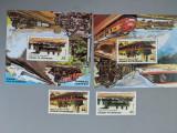 Djibouti - Timbre trenuri, locomotive, cai ferate, nestampilate MNH, Nestampilat