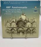 ITALIA 2017 1 Cent-2 Euro + 2 Euro Comemorativ - Bazilica San Marco - Folder, Europa