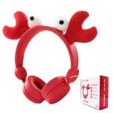 Cumpara ieftin Casti audio Fashion Kids, mufa jack 3.5 mm, banda reglabila, model crab, Oem
