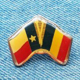 Insigna steaguri Romania Texas USA pin steag SUA - probabil intalnire oficiala