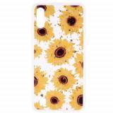 Cumpara ieftin Carcasa Husa Samsung Galaxy A10 model Sunflowers , Antisoc + Folie sticla securizata Samsung Galaxy A10 Tempered Glass Viceversa