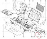 Clips perna Scaun Renault Modus , original 7701059457 pt bancheta spate Kft Auto