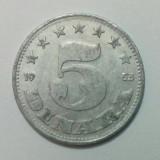 Iugoslavia - 5 dinara - 1953 (monedă, M0052)