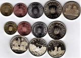 SERIE completa 5+7 monede 2018 + 2019 1 ban+5+10+50 bani+comemorative din fisic