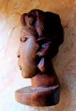 Sculptura africana in lemn de Mpingo (Dalbergia melanoxylon).Aprox 12cm.