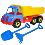 Camion 60 cm cu lopata si grebla portocaliu