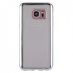 Husa Silicon Samsung Galaxy S7 g930 Luxury Electroplacat Silver