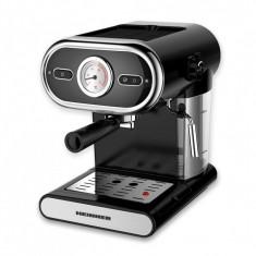 Espressor cu ceas heinner hem-1100bk presiune: 15 bar capacitare rezervor: 1 l termometru frontal preparare