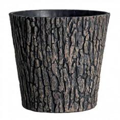 Ghiveci decorativ, Strend Pro Woodeff 839, efect lemn de nuc, 38x30 cm