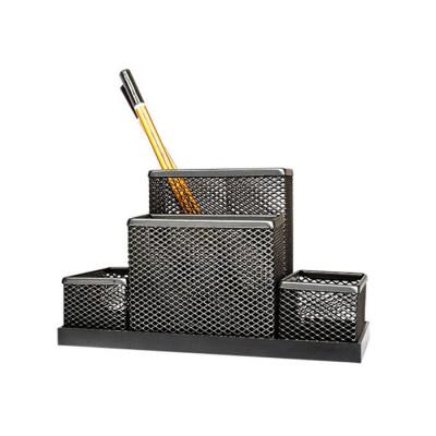 Suport pentru accesorii de birou metalic mesh Forpus 30546 negru foto