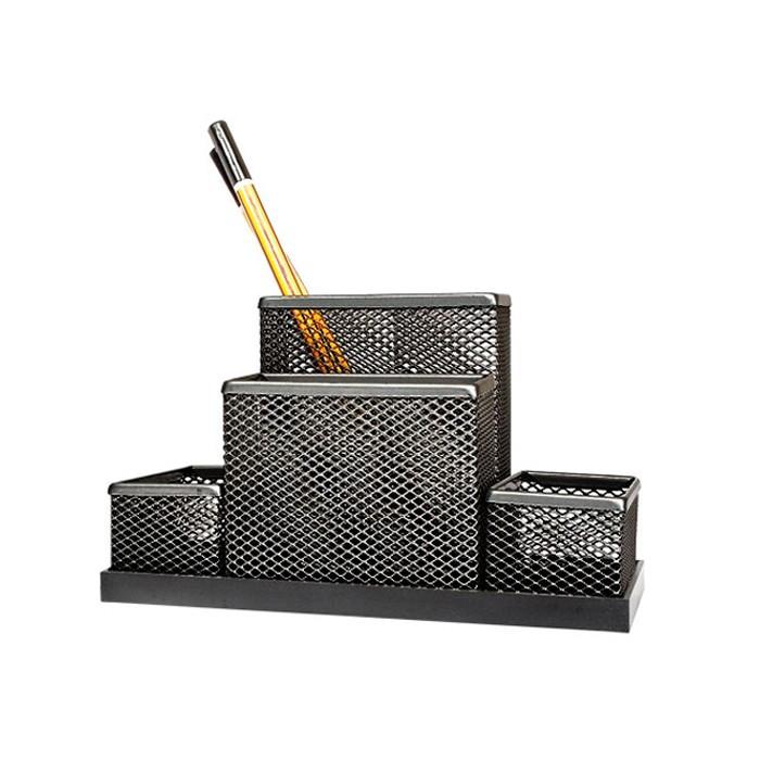 Suport pentru accesorii de birou metalic mesh Forpus 30546 negru