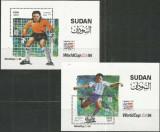 SUDAN 1994 - Fotbal - WCup 1994, 2 colite, Nestampilat