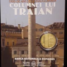 MONEDA AUR - 100 LEI 2013 PROOF - 1900 ANI DE LA INAUGURAREA COLUMNEI LUI TRAIAN