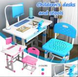 Set birou si scaun pentru copii cu lampa led