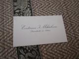 Carte vizita veche licentiata in litere ecaterina mihailescua alb 615