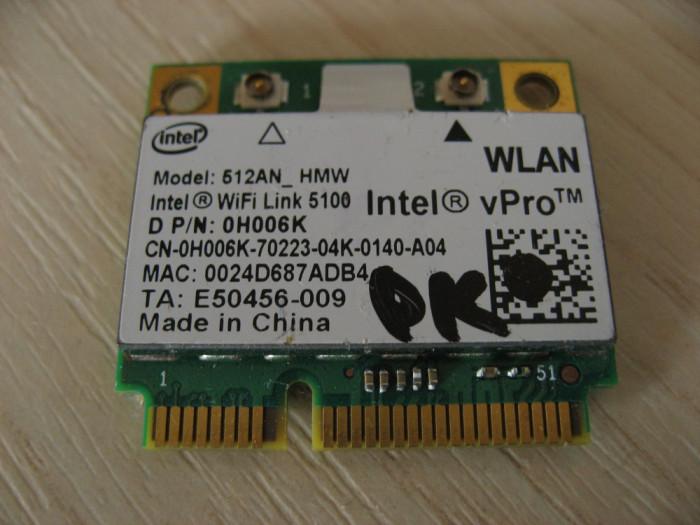Placa wireless laptop Dell Precision M6400, Intel WiFi Link 5100, 0H006K