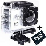 Camera Sport iUni Dare 50i HD 1080P, 12M, Waterproof, Alb + Card MicroSD 8GB Cadou