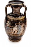 Vaza din ceramica decorata cu foita de aur 24K, 20 cm Cod Produs 455