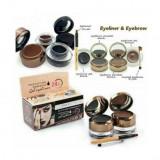 Cumpara ieftin Kit Sprancene 2 in 1: eyeliner gel & pudra sprancene + 2 pensule aplicare