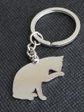 Breloc Pisica 2D pisicuta igienic cadou iubitori de animale de companie feline