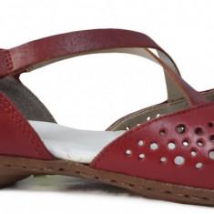 Pantofi dama casual din piele Rieker 53955 rosu