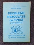 PROBLEME REZOLVATE DE FIZICA PENTRU CLASA A IX-A - Hristev