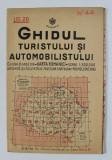 GHIDUL TURISTULUI SI AUTOMOBILISTULUI , HARTA ROMANIEI , CAROUL 44 - CRAIOVA de M.D. MOLDOVEANU , 1936