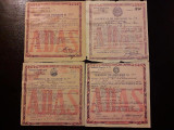 4 certificate asigurare ADAS RPR 1955 - 1958